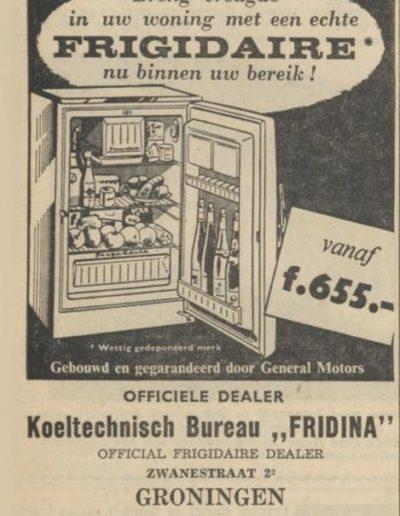 advertentie frigidaire
