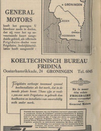 frigidaire gebied 1937